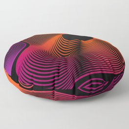 Abstract Moire Floor Pillow