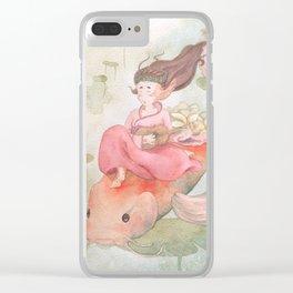 Koi Fish Japanese Goddess Clear iPhone Case