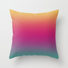 Rainbow Gradient IV Throw Pillow