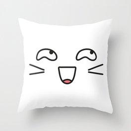 Kawaii face  part2 Throw Pillow