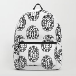 Ancient Egyptian Amulet Pattern Black & White Backpack