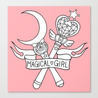 magical girl Canvas Prints featuring Magical Girl by Bunnymachine