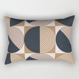 Mid century Modern Geometric 5l Rectangular Pillow
