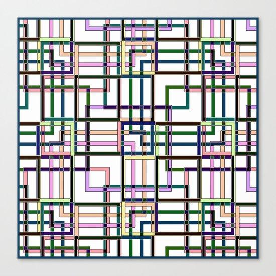 Abstract geometric pattern. Canvas Print