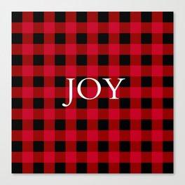 Joy Red Buffalo Check Canvas Print