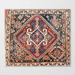Qashqai Khorjin  Antique Fars Persian Bag Face Canvas Print
