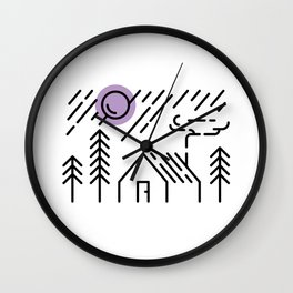 Cabin - In The Woods Wall Clock