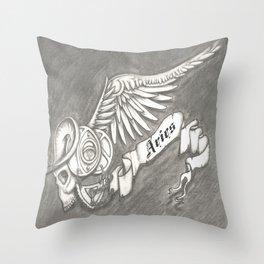 Horroroscopo Aries Throw Pillow