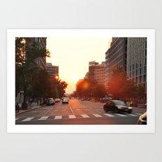 Washington Heat Art Print
