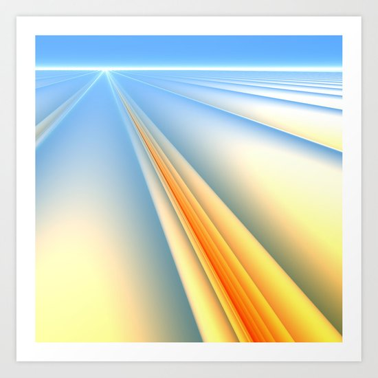 The Blinding Light of Day Art Print