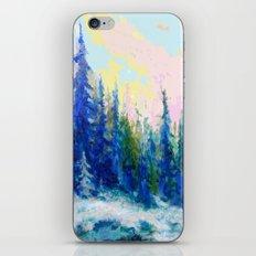 Decorative Blue-Green Winter Forest Landscape  iPhone & iPod Skin