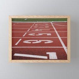 Olympics Tartan Running Track Framed Mini Art Print