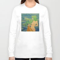 underwater Long Sleeve T-shirts featuring Underwater by Kimball Gray
