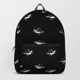 Hoop Diving - Pattern on Black Backpack
