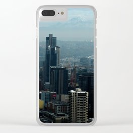 Skylines Clear iPhone Case