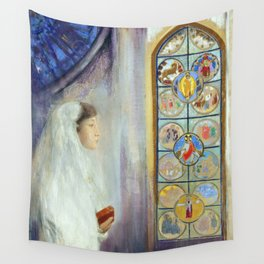 "Odilon Redon ""Portrait of Simone Fayet in Holy Communion"" Wall Tapestry"