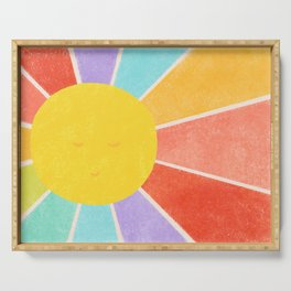Rainbow Sun Serving Tray