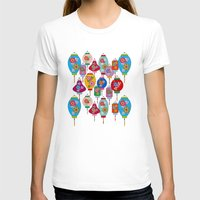 chinese T-shirts featuring Chinese lantern by Helene Michau