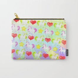 Cute I Love Unicorns Pattern Carry-All Pouch