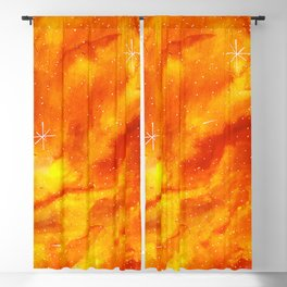 Orange Galaxy Blackout Curtain