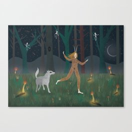 Wild Woman in the Forest Canvas Print