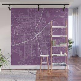 Huntsville Map, USA - Purple Wall Mural