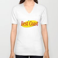 seinfeld V-neck T-shirts featuring Best Coast - Seinfeld style by ernieandbert