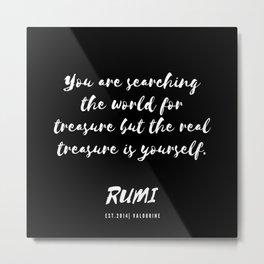 26    Rumi Quotes Good Vibes 190514 Metal Print