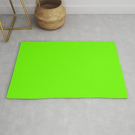 Bright Fluorescent  Green Neon Rug