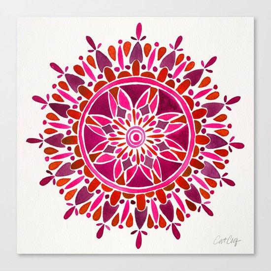 Magenta Mandala Canvas Print