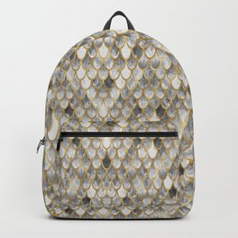 Marble Mermaid Scales Backpack