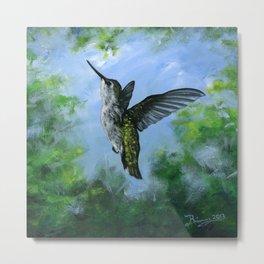 Hummingbird's Forest Metal Print