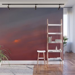Red cloud shining at sunset Wall Mural