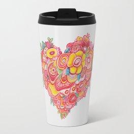 HEART FLOWER Travel Mug