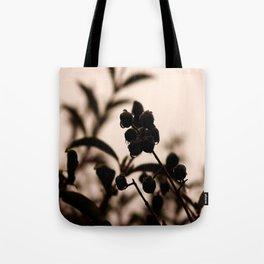 raindrops and hedge berries Tote Bag