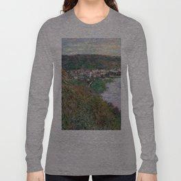 1880-Claude Monet-View of Vétheuil-65 x 81 Long Sleeve T-shirt