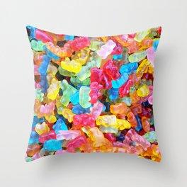 Gummy Bear Don't Care Throw Pillow