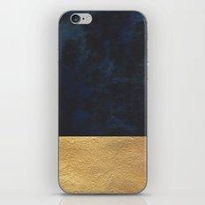 Color Blocked Gold & Cobalt iPhone Skin