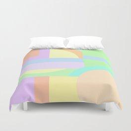 Pastel Shape Maze Duvet Cover