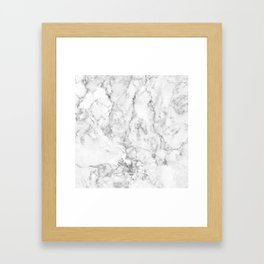 Gray Marble Background Framed Art Print
