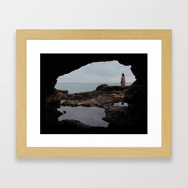 Reflection in the Cave Framed Art Print