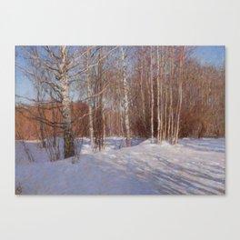 March. Dacha. Canvas Print