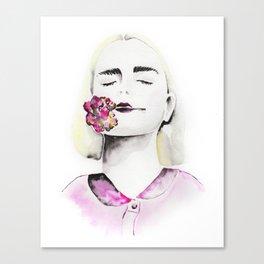 Lovely flower girl Canvas Print