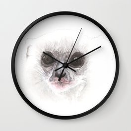 Silky Sifaka looking back Wall Clock