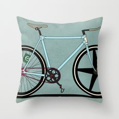 Fixie Bike Throw Pillow
