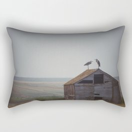 Great Blue Herons Rectangular Pillow