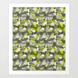 Painterly Gary Green Camouflage Art Print