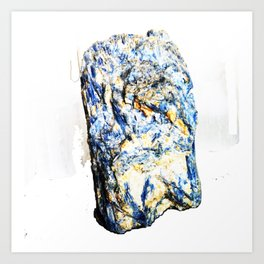 Kyanite crystall Gemstone Art Print