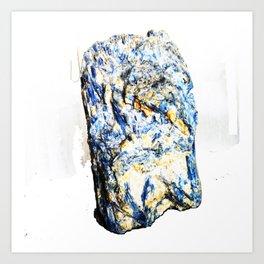 Kyanite crystall Gemstone Art Print