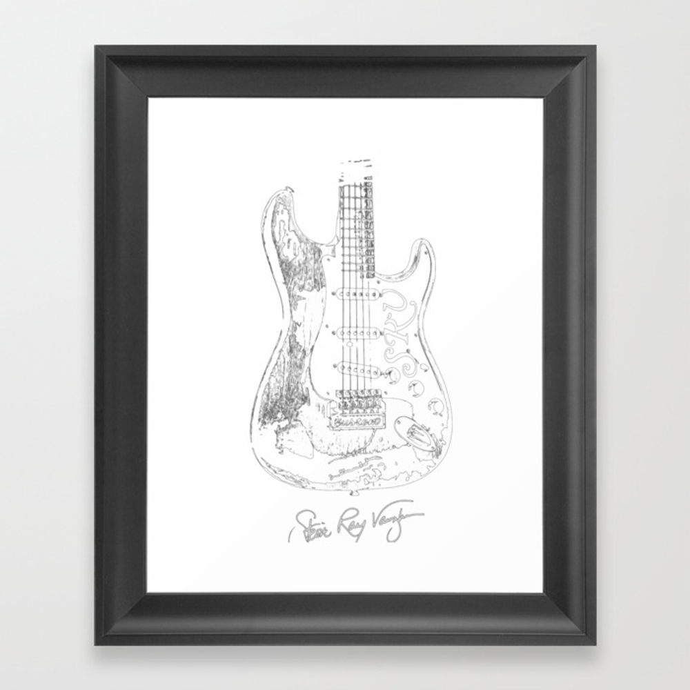 Stevie Ray Vaughan - Guitar-blues-rock-legend Framed Art Print by Skydes FRM8904524